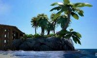 The beach on the play island