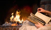 You're in your living room, reading by the fire...