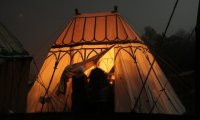 Medieval festival camping