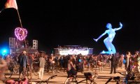 A simulation of what it sounds like at burning man.