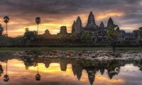http://www.ambient-mixer.comAngkor Wat is a temple in Cambodgia