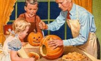 Norman Rockwell autumn theme