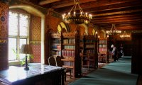 Studying in the Hogwarts library