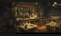 Taverna sem muito movimento