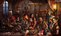 http://www.ambient-mixer.comStandard background fantasy tavern sounds