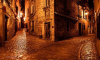 http://www.ambient-mixer.comfantasy city street at night