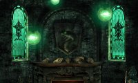 relaxing in the slytherin common room
