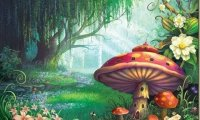 A magical fairytale ambience with soft, glittery sounds