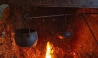 Kitchen Witchery in her cottage.