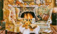 https://www.ambient-mixer.comWarm Autumn Fireplace.