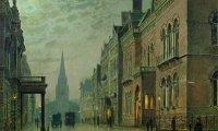 Victorian London Street at Night