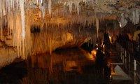 Quiet cave lake or underground stream