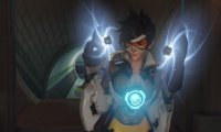 Witness the joy of Tracer playing with her time-leaping abilities