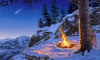 Winter Mountain Campsite
