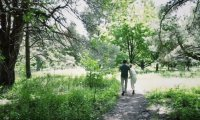 Anne and Gil Walk in the Park