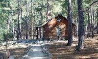 Camp cabin, rainy