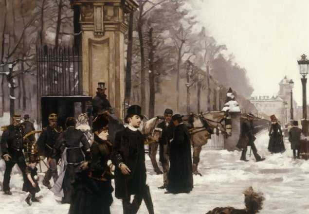 victorian street at christmas audio atmosphere