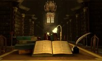 http://www.ambient-mixer.comIt's the hogwarts potions class sounds but with less boil noises.