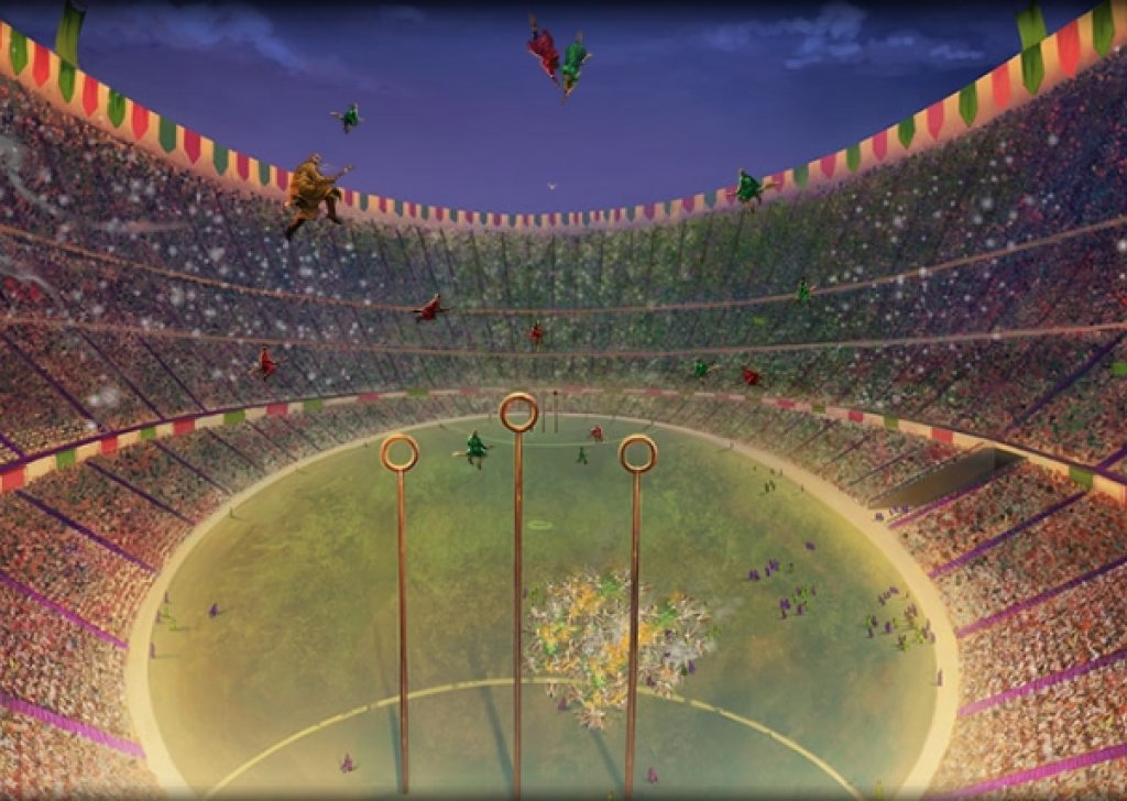 The Quidditch World Cup audio atmosphere