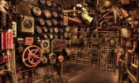 """Blazing Star"" Engine Room"
