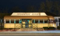 mostly empty diner