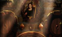 Enter the welcoming common room of the friendly Hufflepuff house