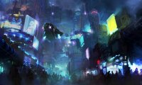 http://www.ambient-mixer.comFuturistic Megacity: Crowded Intersection