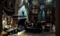 Rainy Slytherin study room
