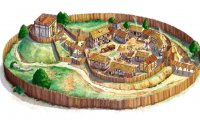 Middle Age village. - For fanfiction writers.