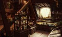 The coziest apothecary shop in Tiksylvan.