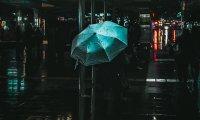 city din with rain