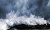 Sea storm & lightnings