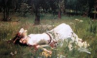 Ophelia falls asleep