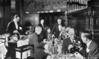 Illegal 1920s speakeasy/restaurant, complete with drinking and gambling